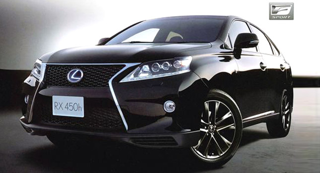 The New 2013 Lexus RX 350 AWD F-Sport Hybrid