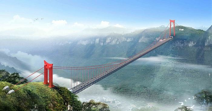 Aizhai Suspension Bridge, Hunan (China)