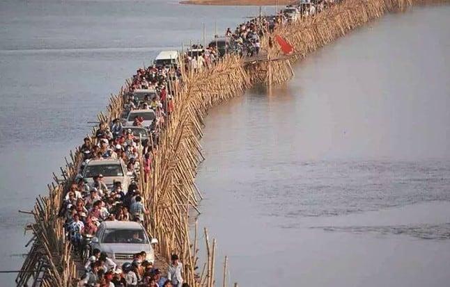 Ko Paen Bamboo Bridge (Cambodia)