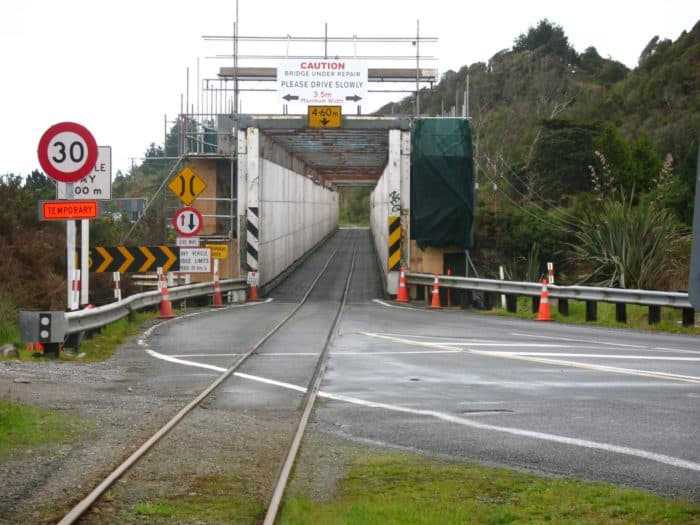 One-lane Car + Railroad Bridge (New Zealand)