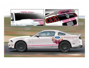 Talladega Breast Cancer Awareness Mustang Pace Car