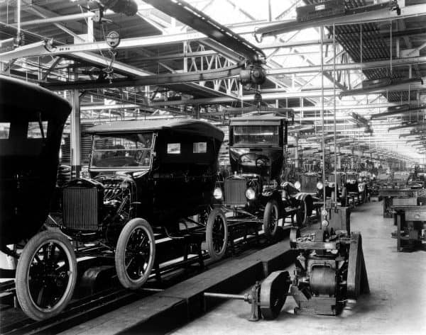 Early Ford Production Line