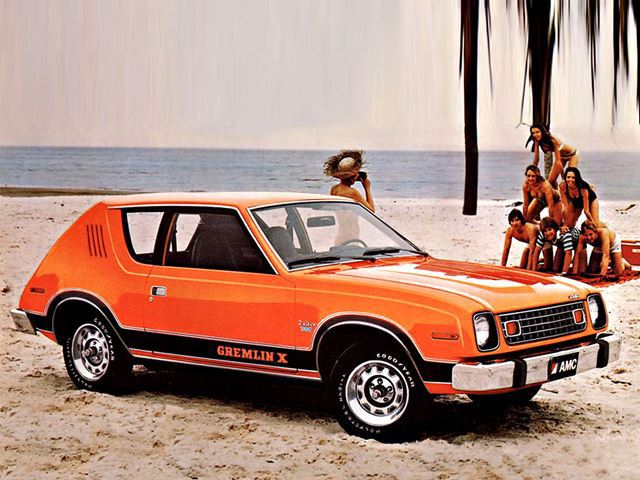 AMC Gremlin On A Beach