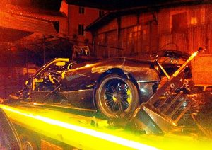 Steffen Korbach wrecks a Pagani Zonda F Clubsport Roadster Special Mark 1 Overdrive Extra