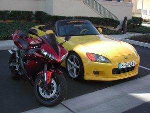 Yellow Honda S2000