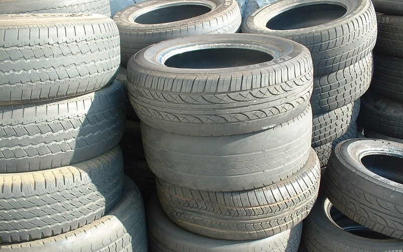 A Stack Of Old Tires