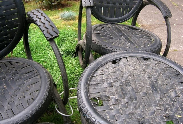 Tire Table and Chairs