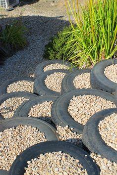 Tire Edging In A Garden