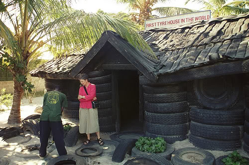 Tire house autowise for Uses for old tyres