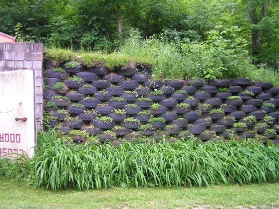 Tire Walls Are Great Uses For Old Tires