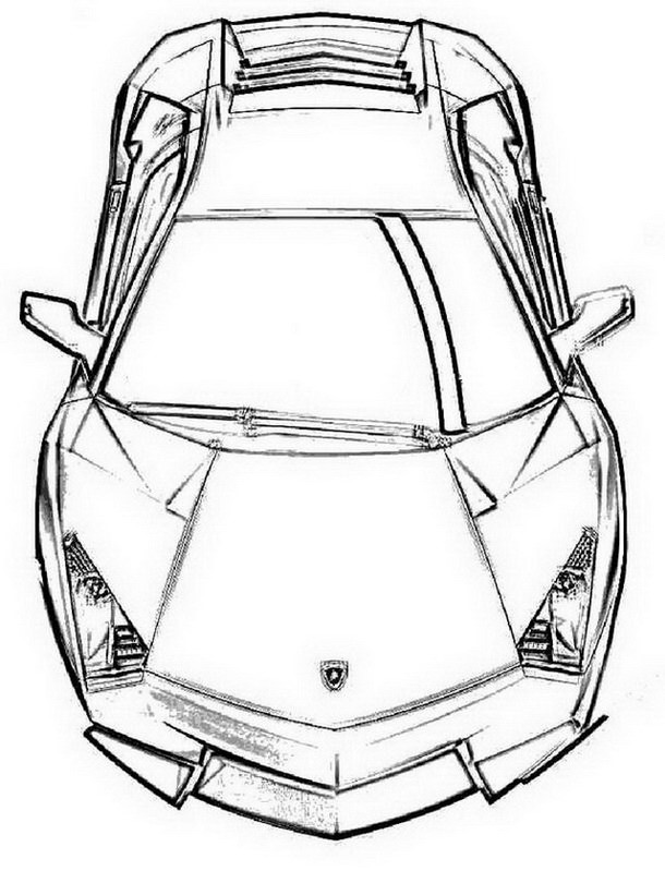 Lamborghini Printable Coloring Pages #1