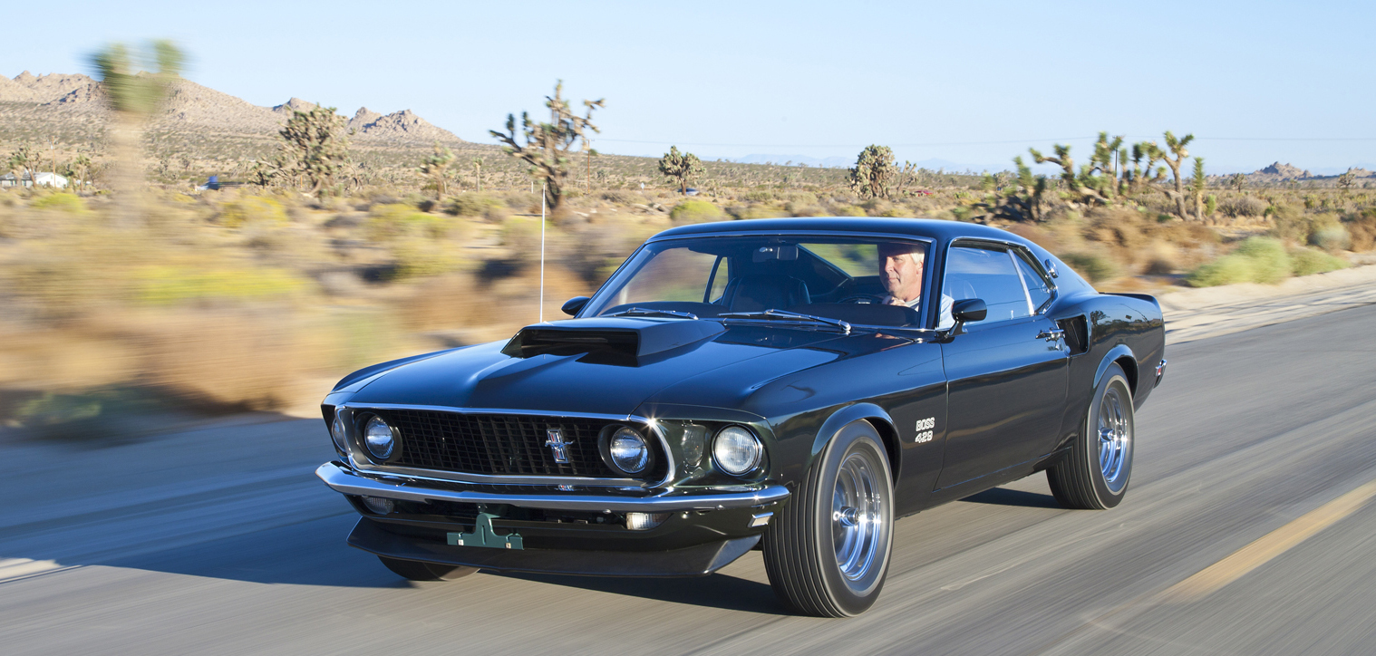 1969-ford-mustang-boss-429-front-view-in-motion-wallpaper