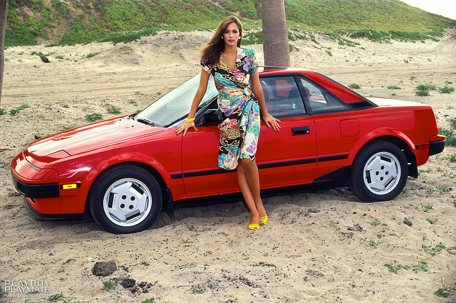 1985 Playboy Playmate Karen Velez With Toyota