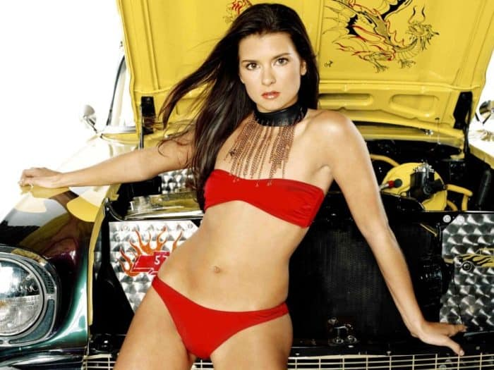 Danica Patrick Hot - In Front Of A Car Hood