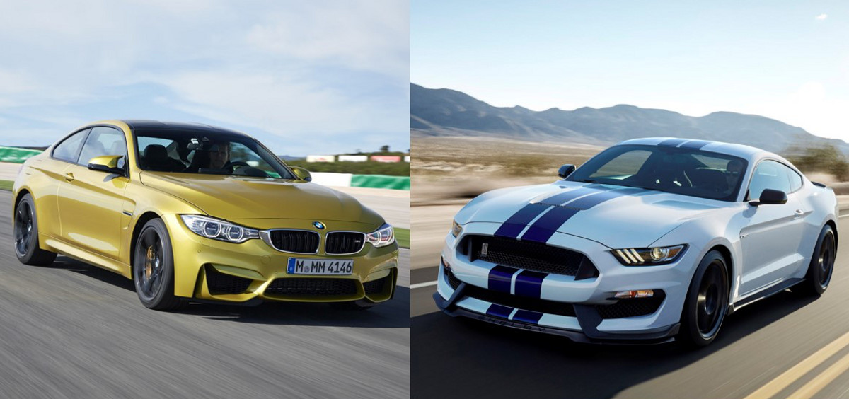 epic battle 2015 bmw m4 vs 2016 mustang gt350. Black Bedroom Furniture Sets. Home Design Ideas