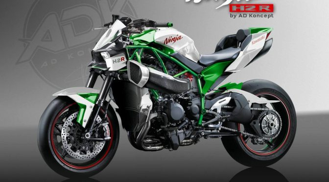 Supercharged Ninja The Kawasaki H2R Streetfighter By AD Koncept