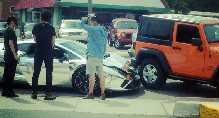 Chrome Lamborghini Crash 3