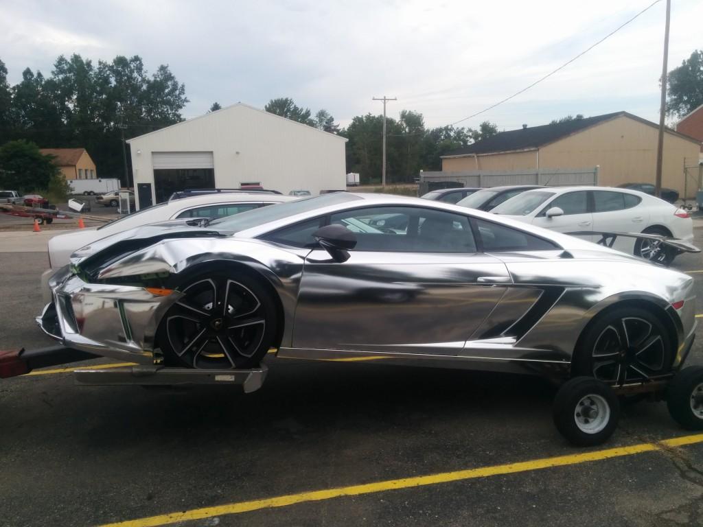 Chrome Lamborghini Crash 2