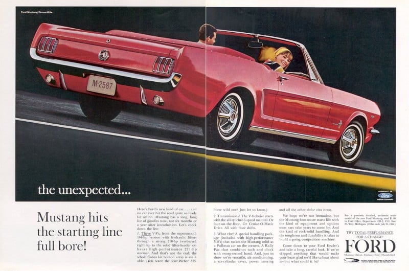 Ford Mustang Advertising Page