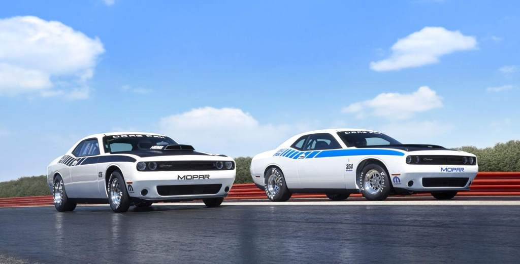 Mopar Dodge Challenger Drag Pak Side by Side