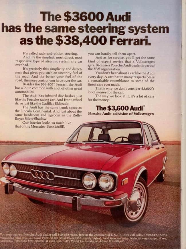 Audi 100 Advert