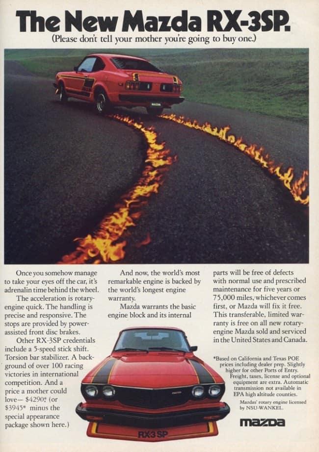 Mazda RX-3SP Advertorial