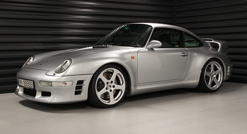 Silver Ruf CTR2 parked