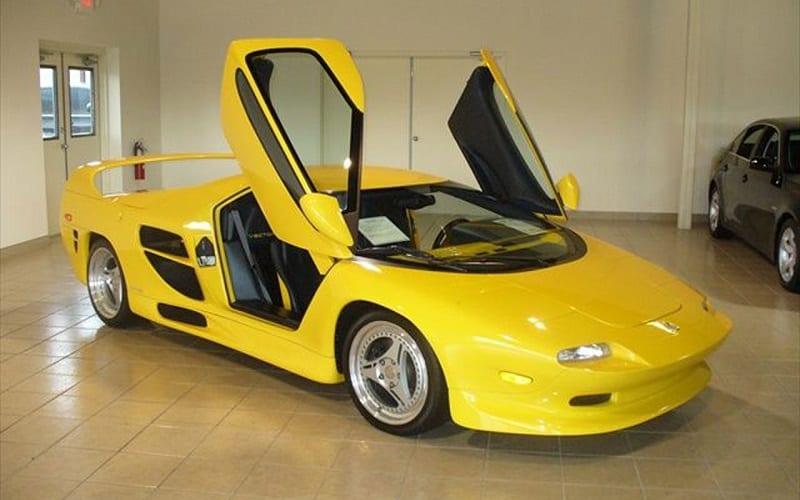 Yellow Vector M12 on display