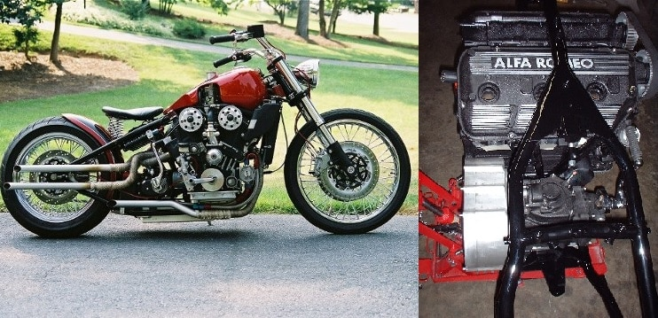 Weird Motorcycle With An Alfa V6 Engine