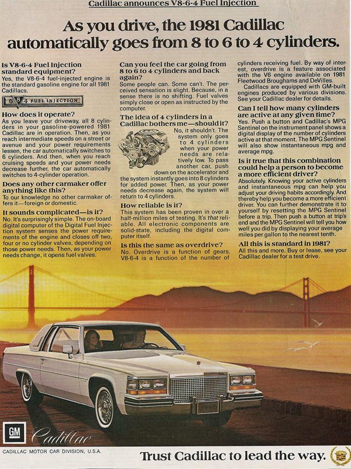 1981 Cadillac V8-6-4 00