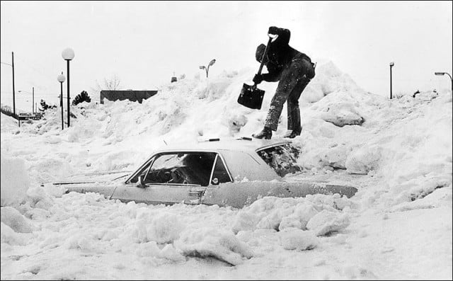 A Car Buried In Snow