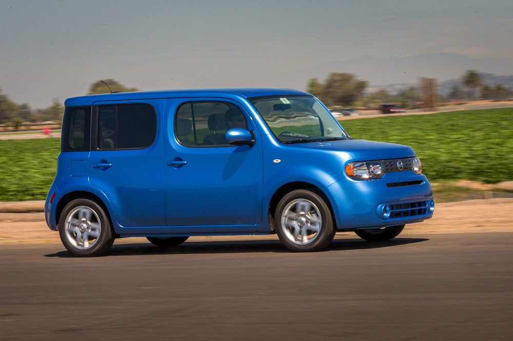 The 2014 Nissan cube continues to stand out in a crowd with unique design elements such as the wraparound rear window, 58.1 cubic feet of cargo space and six standard air bags. The front-wheel drive cube is built on Nissan's proven B-platform and features a standard 122-horsepower 1.8-liter DOHC 4-cylinder engine and a choice of Nissan's advanced, smooth shifting Xtronic CVT¨ (Continuously Variable Transmission) or 6-speed manual transmission.
