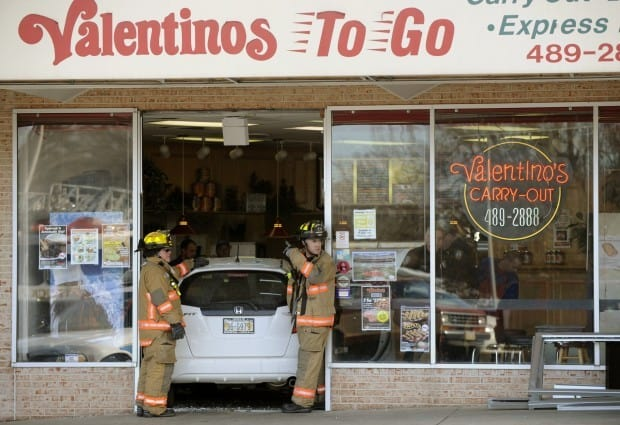 Car Crashing Into Pizza Place