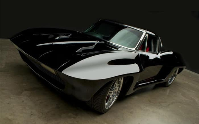 Custom mid-engine '63 Stingray Front View