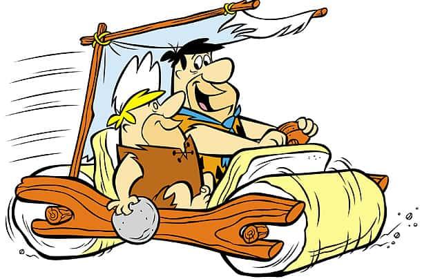 Fred Flintstone and Barney