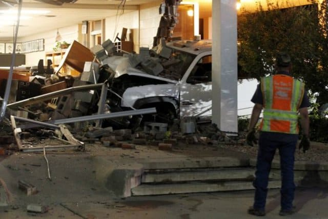 Vehicle Crashes Into A Police Station