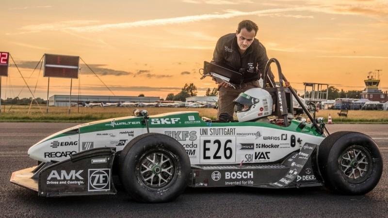 University of Stuttgart E0711-6 fastest electric car build