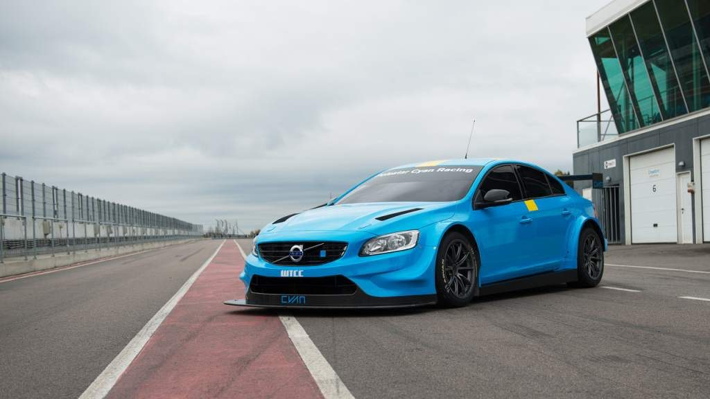 Volvo S60 Race Car Blue Front 3/4