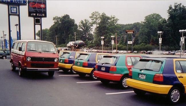 90s Cars - Weird Looking Cars - VW Golf Harlequin