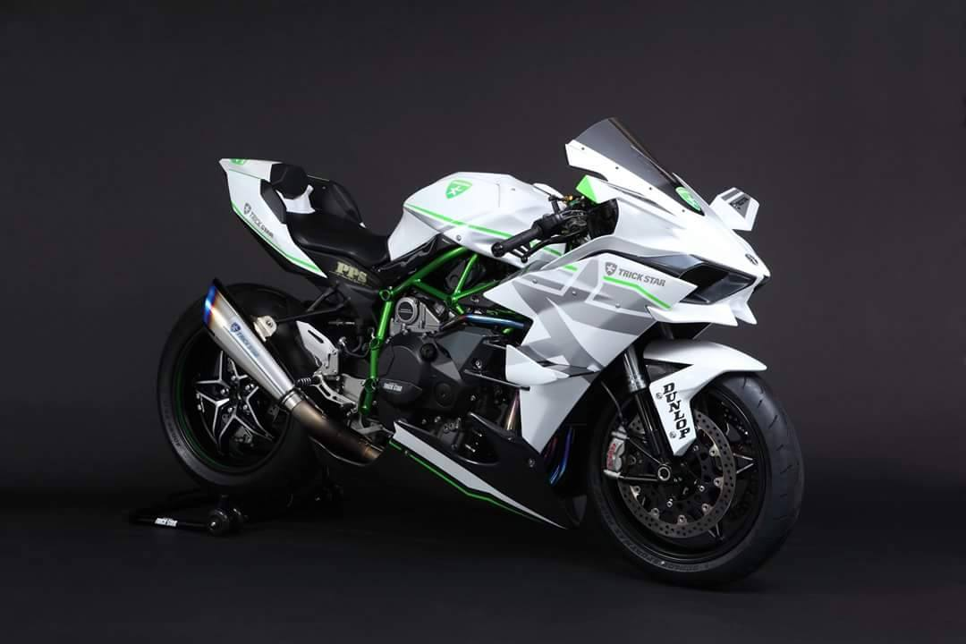 The Kawasaki H2R In White By Trick Star