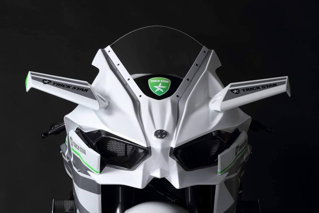 The Kawasaki H2r In Whitetrick Star