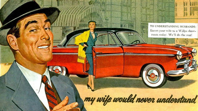 Sexist Car Ads - Willys Aero Deluxe Coupe