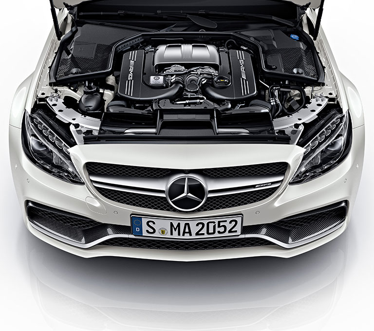 Mercedes amg brings night package option to the amg c63 coupe for Mercedes benz c63 engine