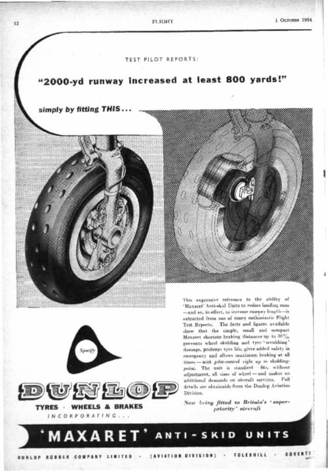 Dunlop Max Braking Technology 1966