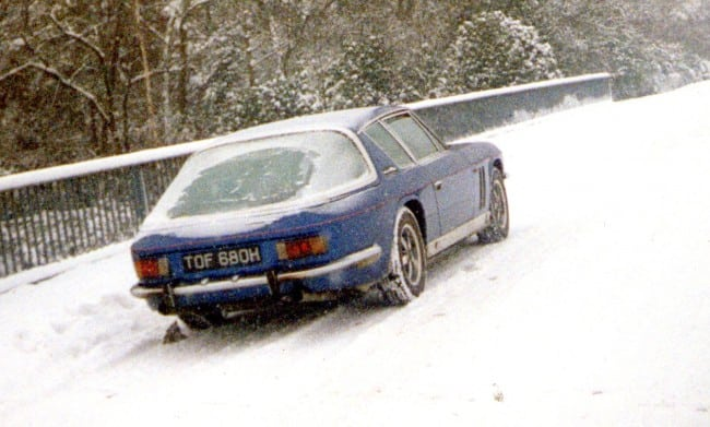 Jensen FF Driving In The Snow