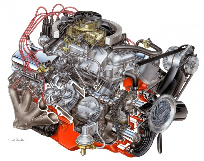 427 L88 Engine Drawing