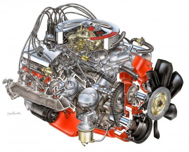 454 LS6 Engine Drawing