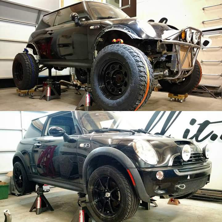 Would You Drive A Mini With V8 And Lifted Suspension