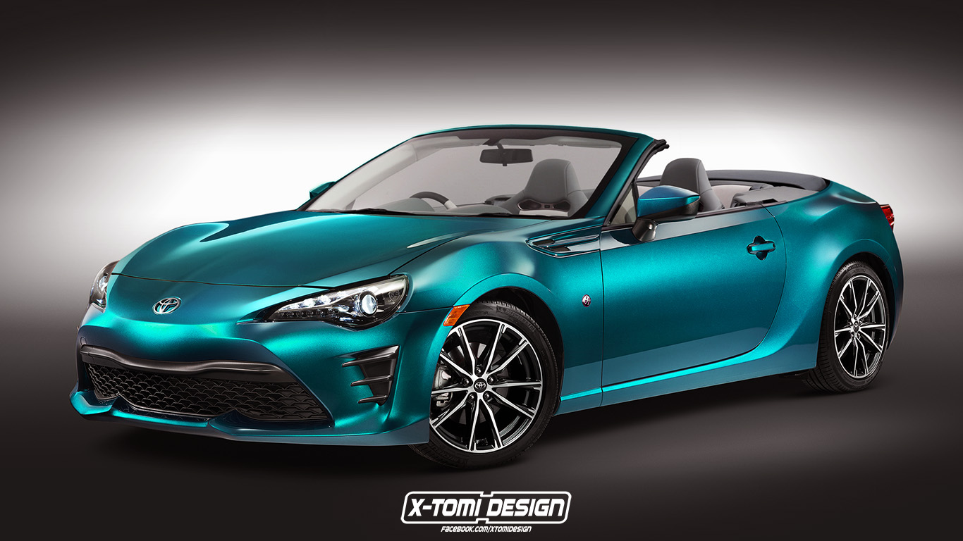 how would the 2017 toyota gt 86 look as a convertible. Black Bedroom Furniture Sets. Home Design Ideas
