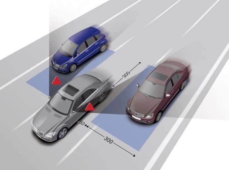 Blind Spot Monitor Illustration